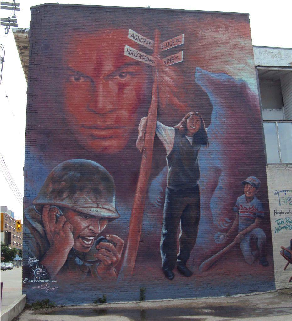 Adam Beach Mural